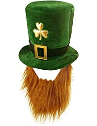 Velvet Shamrock Hat With Beard - St Patrick's Day