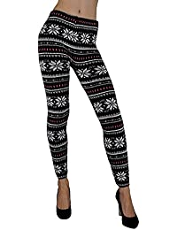 S&LU tolle warme Damen Strick-Leggings im angesagten Norweger-Style oder im Zickzack-Muster