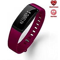 Montre Fitness Tracker, Bracelet Smart Teamyo avec compteur de pas / compteur de calories / sommeil / moniteur de fréquence cardiaque Bracelet étanche IP67 de podomètre sans fil Bluetooth pour iOS et