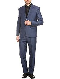 Wintage Men's Poly Viscose Two Buttoned Notched Lapel 2 Pc Suit-4 colors
