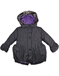 Ex-Store Girls Coat Padded Hooded Coat Navy With Purple Lining Stormwear 3-4Y Up To 6-7Y