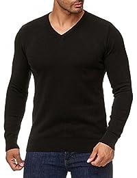 b9257ce63f2e MOKIES Herren Pullover mit V-Ausschnitt oder Rundhals - Modern-Fit -  Hochwertige Baumwollmischung