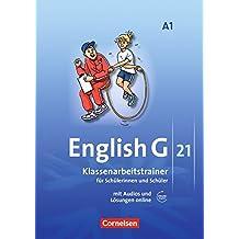 English G 21 - Ausgabe A / Band 1: 5. Schuljahr - Klassenarbeitstrainer mit Lösungen und Audio-Materialien(Online)