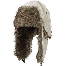 BRUBAKER–Berretto con pelliccia ecologica foderato cappello da aviatore pilota impermeabile