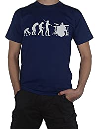 Ape to Drummer (with drum kit) T-Shirt - Evolution of Man T-Shirt