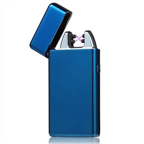 Visibee: Windundurchlässig Elektronische Doppel Arc USB Feuerzeug Zigarettenanzünder Wiederaufladbare Zigarettenanzünder kein Gas Mini-Tasche Ignition Lighter - USB-Kabel im Lieferumfang enthalten