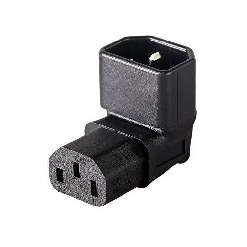 IEC C14 auf C13 Stromadapter/PDU-Stecker, 90 Grad Wandmontage, LCD-Fernseher -