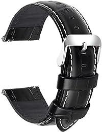 Fullmosa 18mm 20mm 22mm 24mm Bracelet Montre Cuir Véritable, 7 Couleurs  Bamboo Bracelet de Montre 6c53df1d5db