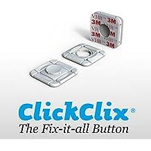 Sistema de fijación ideal Telepeaje / Teletac, móvil, GPS, Router ClickClix® adhesivo (patentado) 8 unidades (Blanco)