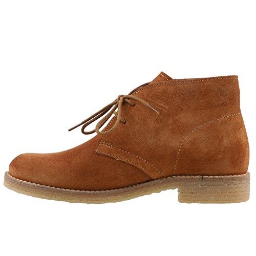 TAMARIS Damen Desert Boots Dunkelblau Braun (Cognac 305)