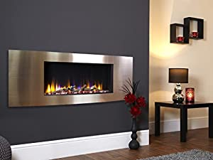 Celsi Designer Fire Ultiflame VR Vichy Champagne Wall Mounted Inset Electric Fire