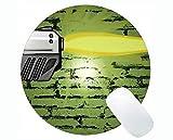 Kundenspezifische ursprüngliche Leopard-Reihen-runde Mausunterlage, Pistolen-Gewehr-runde Mausunterlagen