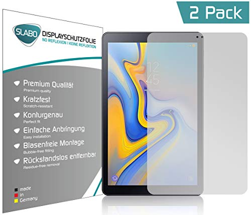 Slabo 2 x Displayschutzfolie für Samsung Galaxy Tab A 10.5 (T590 | T595) 2018 Displayschutz Schutzfolie Folie No Reflexion|Keine Reflektion MATT - Entspiegelnd Made IN Germany