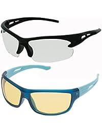 Vast Combo Of All Day & Night Vision Sport Unisex Sunglasses