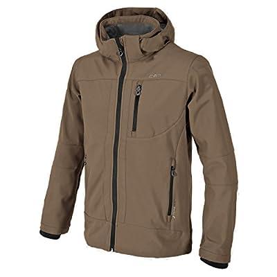 Campagnolo Herren Wander Freizeit Softshell Jacke mit abnehmbarer Kapuze braun von F.LLI Campagnolo - Outdoor Shop