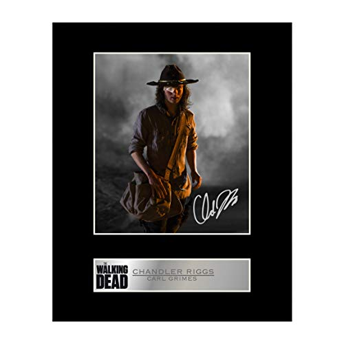 Iconic pics CHANDLER Riggs Carl Grimes Signiert Foto Display The Walking Dead # 1 -