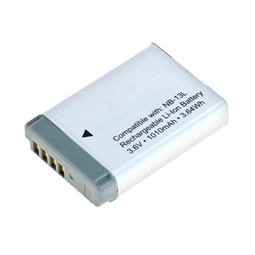 Galleria fotografica CELLONIC® Batteria premium per Canon PowerShot G7 X (Mark II), G9 X (Mark II), SX720 HS, SX730 HS, G5 X, SX620 HS (1010mAh) NB-13L Batterie di ricambio, accu sostituzione, sostituto