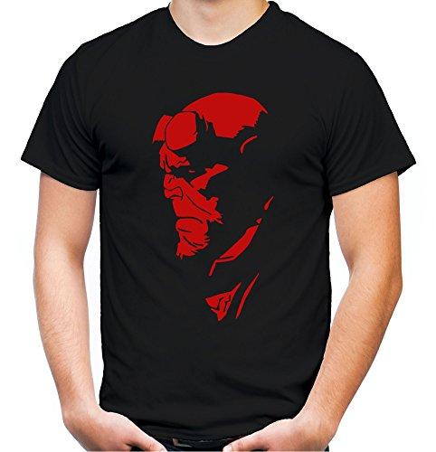 Hellboy Männer und Herren T-Shirt | Teufel Comic | M1 (L, Schwarz)