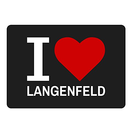 Mousepad Classic I Love Langenfeld schwarz