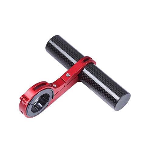 YZLSM Fahrradlenker Extender Fahrrad Erweiterungsrack Carbon-Faser-Halterung Halter Halterung Für Telefon - Rote Bewässerungs-Halter-zahnstange