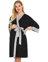 Conquro Bata de Maternidad Bata de Maternidad hospitalaria Vestido de Lactancia Materna Vestido de Embarazadas para