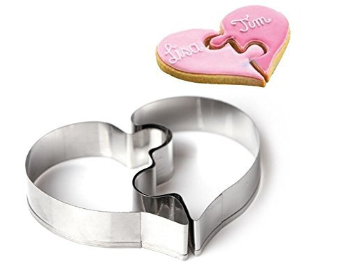 NiceButy DIY Puzzle Love Cookie Cutter Fondant Gebäck Kekse Backen Formen (Anzahl Sandwich-cutter)
