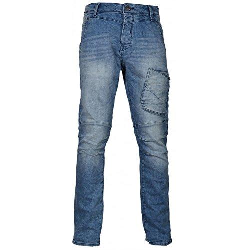 883 Police Mens Cassady AI 361 Light Wash Detailed Jeans Denim