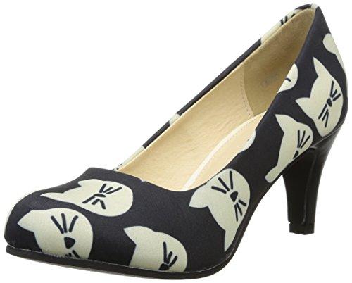 T.U.K. Vintage - Zapatos de vestir de canvas para mujer negro negro 40