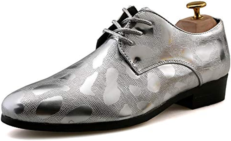 les entreprises chaussures, xiaojuan chaussures, entreprises les hommes de style britannique oxford new floral officiel gaufré chaussures (couleur: argent, taille... 456b7c
