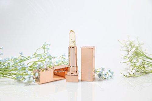 [Korean cosmetics]-Emerald Flower-Flower Jelly Lipstick, Colore cambia della personal Temperatura, Moisturizing Lip gloss con Pezzi D'oro, Fragranza dalla Frutta Naturale