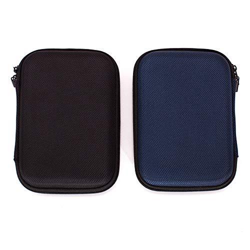 Ginsco 2-Pack Negro Azul Estuche Transporte