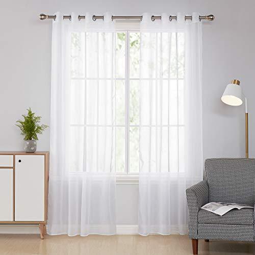 Doconovo Cortinas Transparente Ojales Dormitorio 140