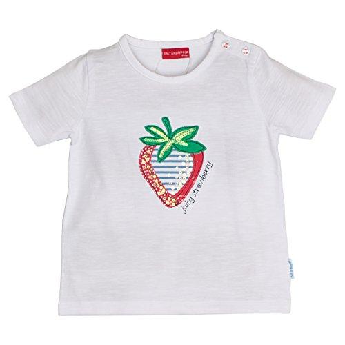 SALT AND PEPPER Baby-Mädchen B T-Shirt Juicy Uni Erdbeere, Weiß (White 010), 68 Preisvergleich