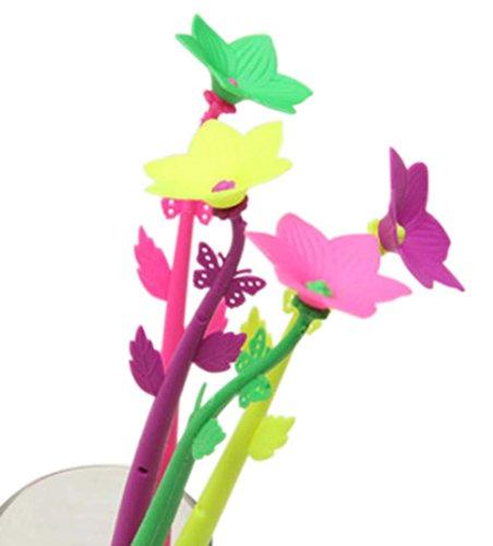 Set von 12 Butterflies Blume-Gel-Feder mit Fragrance Signing Pen (Farbe Random)