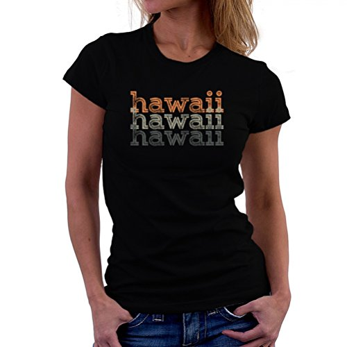 Camiseta-de-mujer-Hawaii-repeat-retro