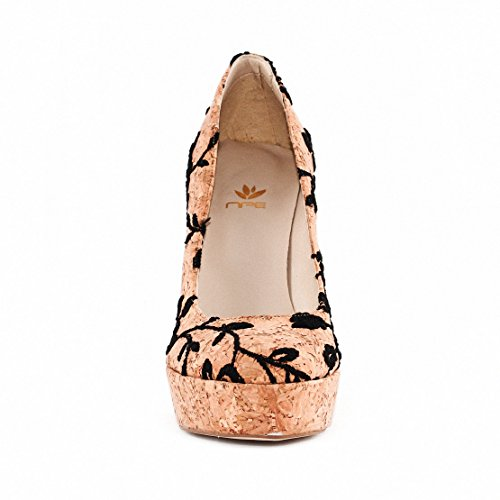 NAE Cork Rose Pump - Damen Vegan Schuhe - 3