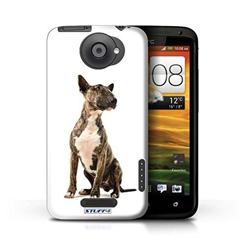 Kobalt® Imprimé Etui / Coque pour HTC One X / Montagne Suisse conception / Série Chiens Bull Terrier