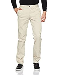 Park Avenue Mens Casual Trousers (8907663021835_PCTF00180-F1_38W x 33 L_Light Fawn)