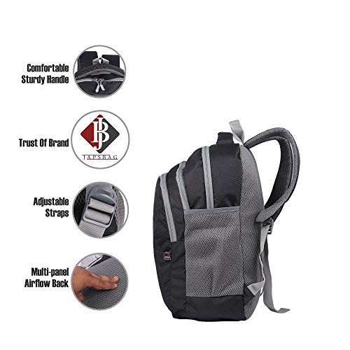 JAPSBAG 30 Ltrs Casual Waterproof Laptop Backpack Bag for Men Women Boys Girls/Office School College Teens & Students with Free RAIN Cover (Black) Image 9