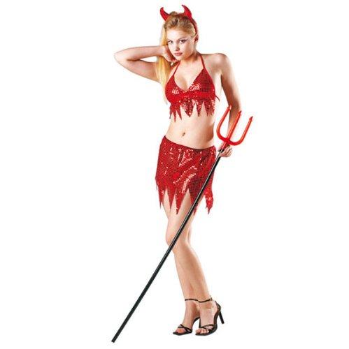 Déguisement diablesse disco rouge sexy - Femme - ()