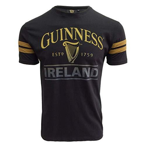Guinness T-Shirt, Dunkelbraun, Schwarz - - Groß