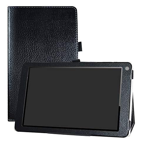 """LFDZ Odys X610195 Falcon 10 Plus 3G Hülle, Schutzhülle mit Hochwertiges PU Leder Tasche Case für 10.1"""" Odys X610195 Falcon 10 Plus 3G Tablet,Schwarz"""