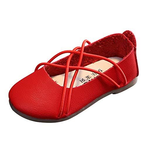 LILIGOD Kinder Mädchen Flache Einzelne Schuhe Flacher Mund Kleine Schuhe Freizeitschuhe Mode Hochzeit Party Loafers Einfarbig Einfach Prinzessin Schuhe Kreuzgürtel Mary Jane Schuhe