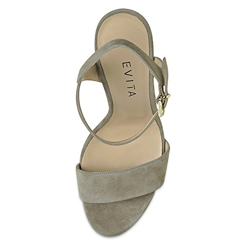 VALERIA sandales femme daim Beige