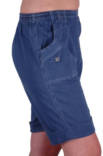 EyeCatch - Short comfort stretch grandes tailles -Femme Toile de jean Blue