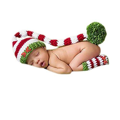 Babys Für Halloween Kostüme Handgemachte (Veewon Baby Säugling Häkeln Stricken Weihnachten Kostüm Kleidung Foto Stützen 0-6 Monate)