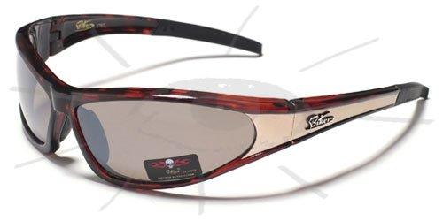Preisvergleich Produktbild elegante BIKER ® Sportbrille / Skibrille / Sonnenbrille BK01 NEU braun / gold