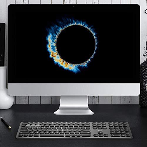 fang FANS Tastatur Die kabellose 2.4G / Bluetooth 4.0-Gaming-Tastatur kann DREI Geräte gleichzeitig für Smartphones/Computer/Desktops/PCs/Laptops/Smart-TVs und Windows 10/8/7 verbinden (Schwarz) - Vertiefte Fan Licht