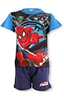 Boys Official Spiderman Short Pyjamas Age 3 to 8 Years