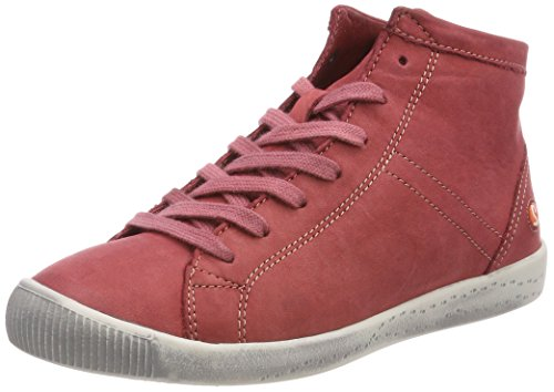 Softinos Isleen Washed, Sneaker a Collo Alto Donna Rosso (rosso)